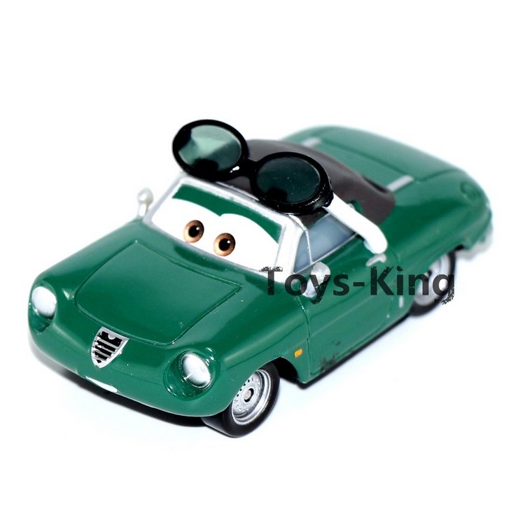 Green Car with Glasses of Pixar Cars 1,Mini Alloy Toy Car,1:55 Scale, Diecast Metal Model Toys For Children(China (Mainland))