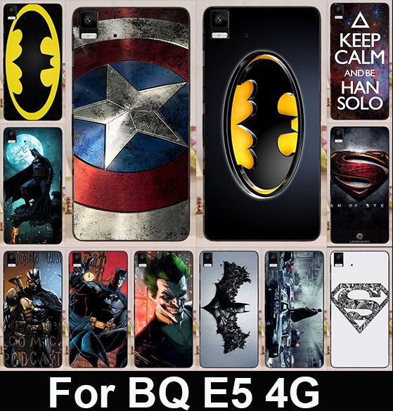 Гаджет  Cool Print Batman Captain America Coloured Painted Cover Hard Cell Phone Case For BQ Aquaris E5 (4G Edition ) Cover Skin Shell None Телефоны и Телекоммуникации