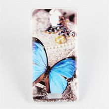Butterfly Tiger Lenovo S660 Case Colored Painted Back Cover Case For Lenovo S660 Cell Phone Case Bags Skin Shell Free shipping