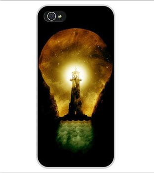 Free Shipping lighthouse inside bulb Plastic Hard Back Cell Phone Cover Case Cases for Apple iPhone 4 and 4S(China (Mainland))