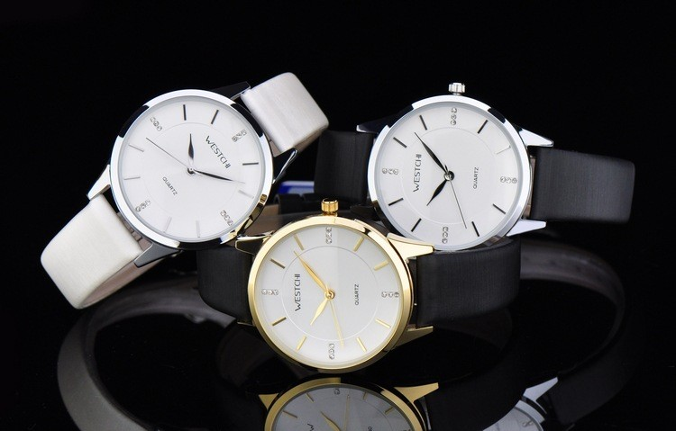 2016 новый дизайн женщин часы лучший бренд WESTCHI часы водонепроницаемые 30 м повседневная ремень из натуральной кожи наручные часы