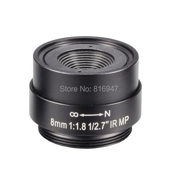 cctv lens 8mm cs mount, 1/2.7 inch fixed iris F1.8 lens, 1080p ip camera 3 mega pixel EVETAR - Wellcam Lens store