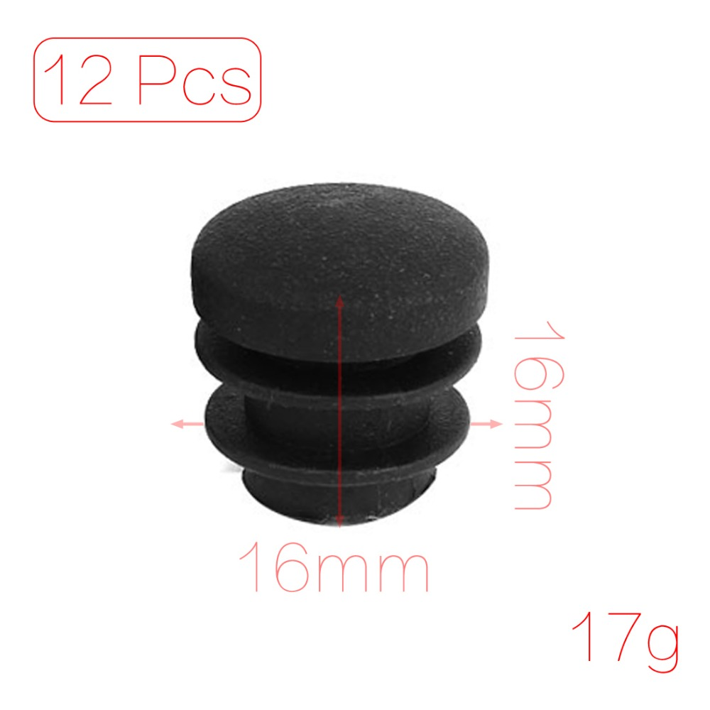 12 Pcs/lot Plastic 16mm Pipe End Blanking Caps Bung Tube Insert Plugs Round(China (Mainland))