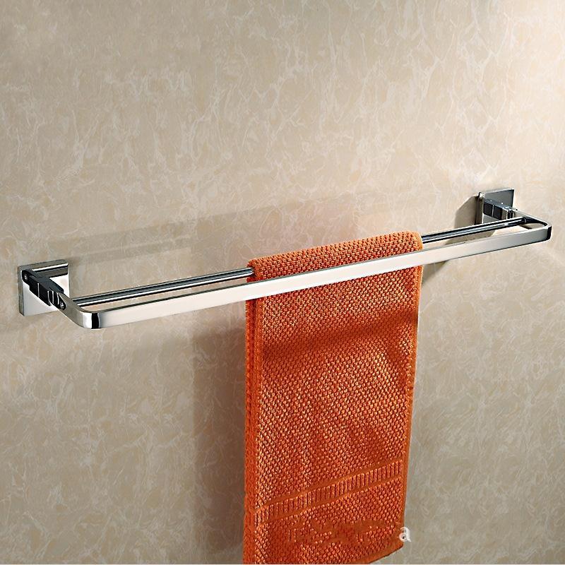 Hot Selling Chrome Plating 60cm Brass Bath Towel Holder Towel Bar Bathroom Shelf Bathroom Towel