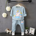 2016 christmas outfit girl clothing pig pattern kids clothes sets baby boys girls sweatshirt suit children