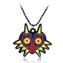 The Legend of Zelda Necklace the Colorful Enamel Owl Majoras Mask Pendant Game Cosplay Jewelry Accessorie Navi Necklace XL619(China (Mainland))