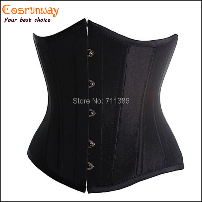 Sexy Black,White,Blue,Red Satin Corset Underbust Bustiers Women Corsets Sexy Lingerie Plus Size Corselets 2XL,3XL,4XL,5XL,6XL(China (Mainland))