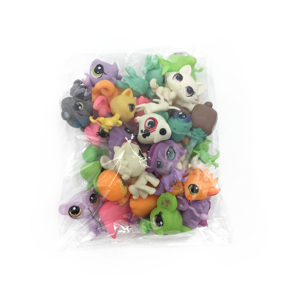 LPS 31Pcs/bag Little Pet Shop Toys Littlest cartoon Animal cute Cat Dog loose Action Figures collection Kids Girl toys Gift(China (Mainland))