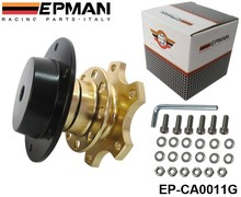 EPMAN - Golden Steering Wheel Snap Off Quick Release Hub Adapter Boss kit Universal EP-CA0011G(China (Mainland))