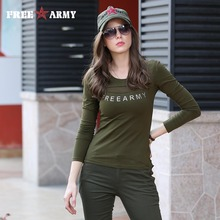 Buy Fashion 2016 Shirts Womens Brand Cotton Lace Shirt Army Green Appliques T Shirt Long Sleeve High Free Gs-8512A for $11.47 in AliExpress store