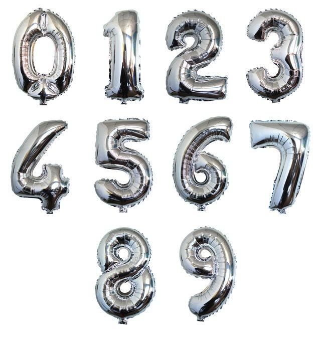 40 Inch Gold & Silver Number 0-9 Foil Balloons Birthday Party Number Banner Decoration Balloon Wedding Party Supplies(China (Mainland))