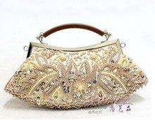 Wholesale Classic Embroidery Flower Evening Bag, Handmade Shinny Handbag