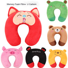 1pc Cartoon Plush Pillow Nap U-shaped Pillow Travel Pillow(China (Mainland))