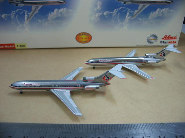 StarJets 1:500 727-200 American Airlines alloy aircraft model A set of two Collection model(China (Mainland))