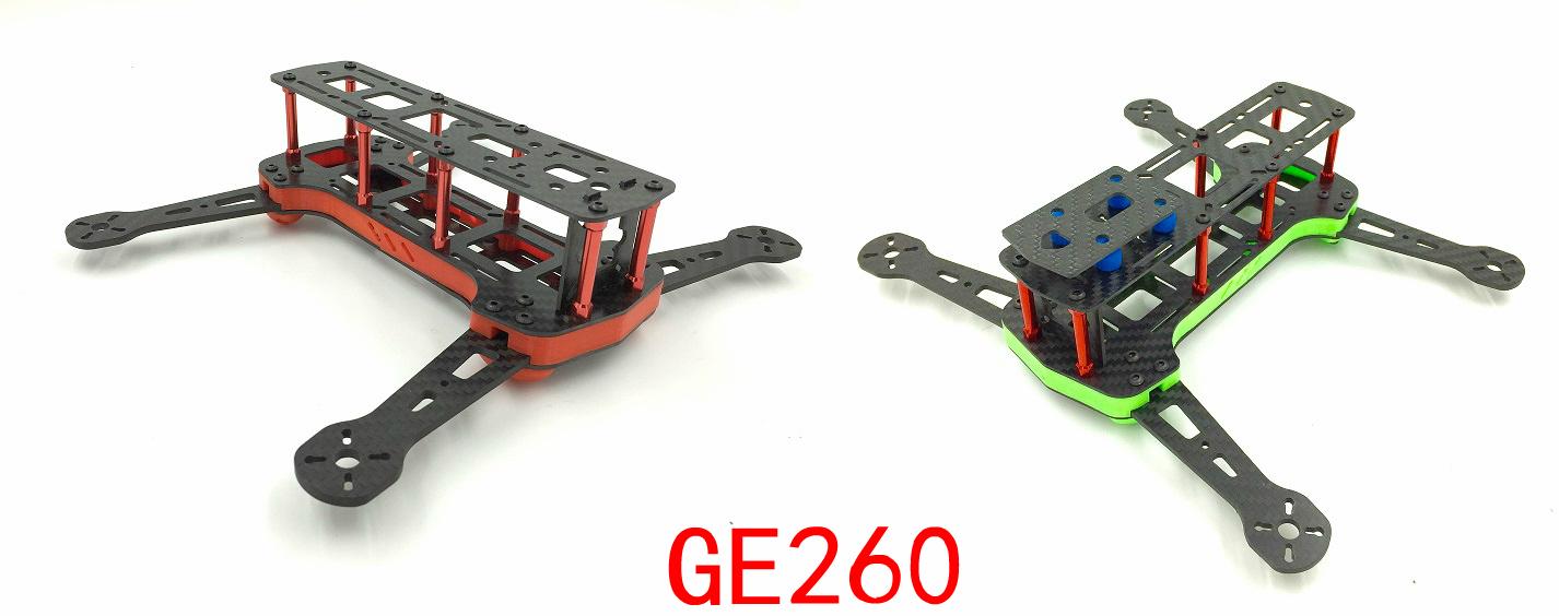 Free Shipping GE260 GE FPV Four axis 3K Carbon Fiber Frame Quadcopter Frame Kit Rack GE