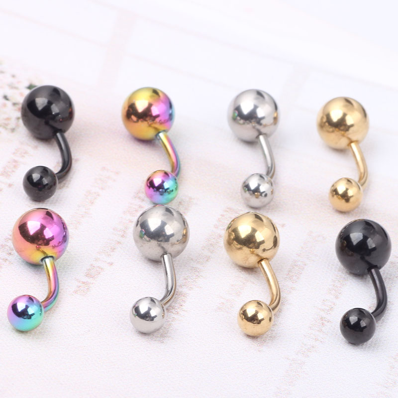 1pcs Titanium Anodized Nave Belly Button Rings Piercing Navel Bars Surgical Steel Free Shipping Body Jewelry(China (Mainland))