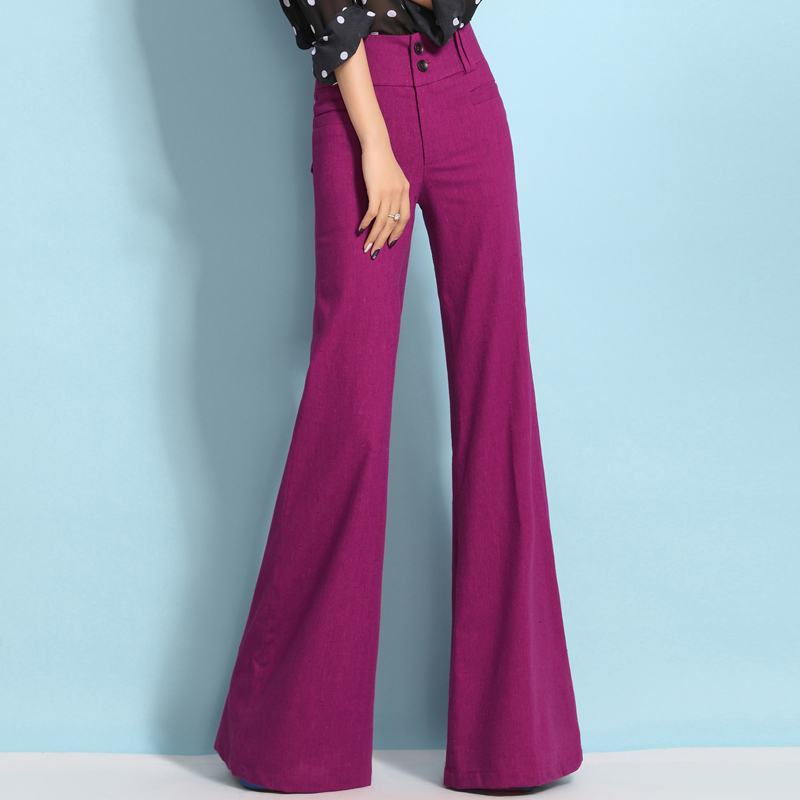 purple wide leg pants - Pi Pants