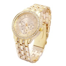 Buy Hot Sales Luxury Geneva Brand Gold Watch Women Ladies Men Crystal Dress Quartz Watches Relogio Feminino Clock GE001 for $4.99 in AliExpress store