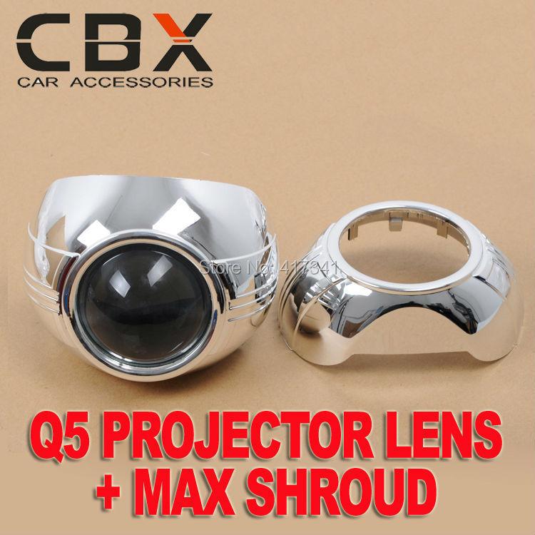 Free Shipping D2H Car Headlight 3 inches H4 Easy Install Koito Q5 Bi-xenon hid projector lens MAX-A Projector shroud Mask LHD(China (Mainland))