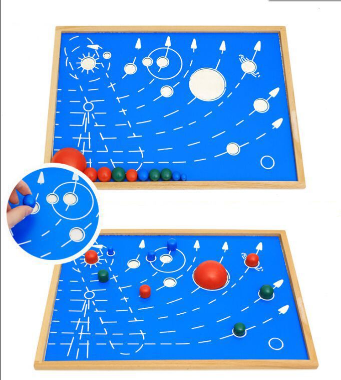 Solar System Planets Montessori Board 41.6*29.8cm Newest Montessori Materials Learning Education Toy TGMN70H(China (Mainland))