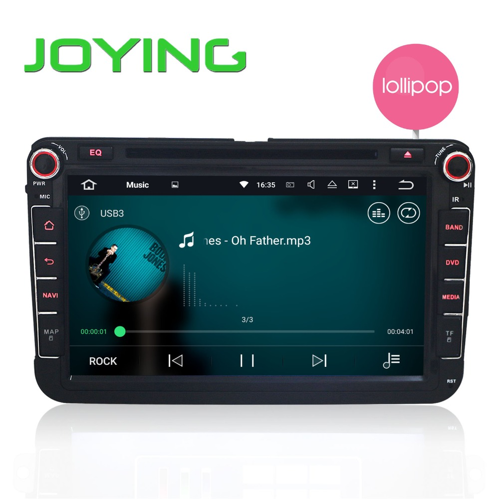 JOYING 2 Din Android 5.1 Quad Core 16GB Car DVD Player Stereo 1024*600 Navi for VW Skoda POLO GOLF PASSAT CC JETTA TIGUAN TOURAN(China (Mainland))