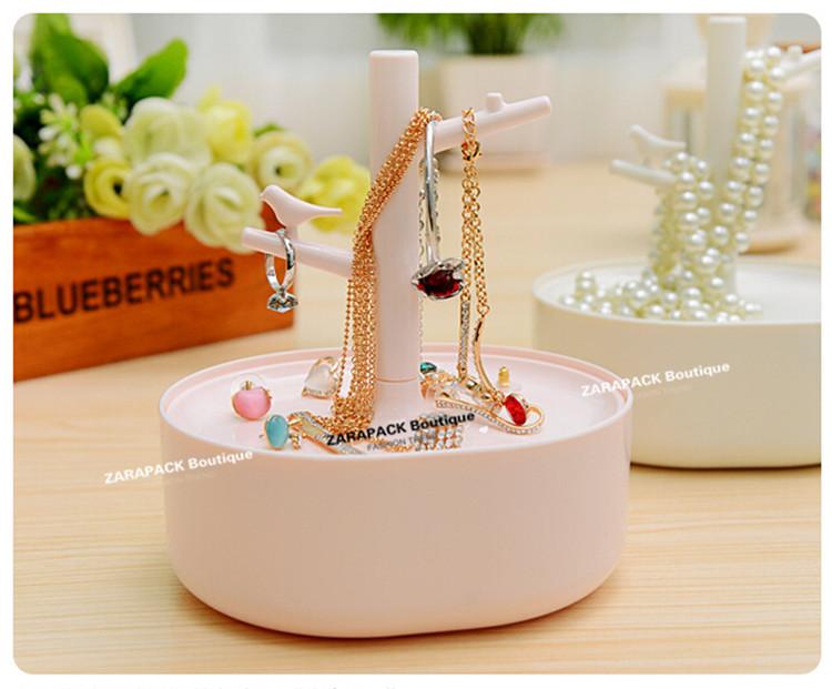 Wholesale Designer 3C Love Bird Tree Jewelry Organizer Stand jewelry holder with Tray Case Free shipping(China (Mainland))