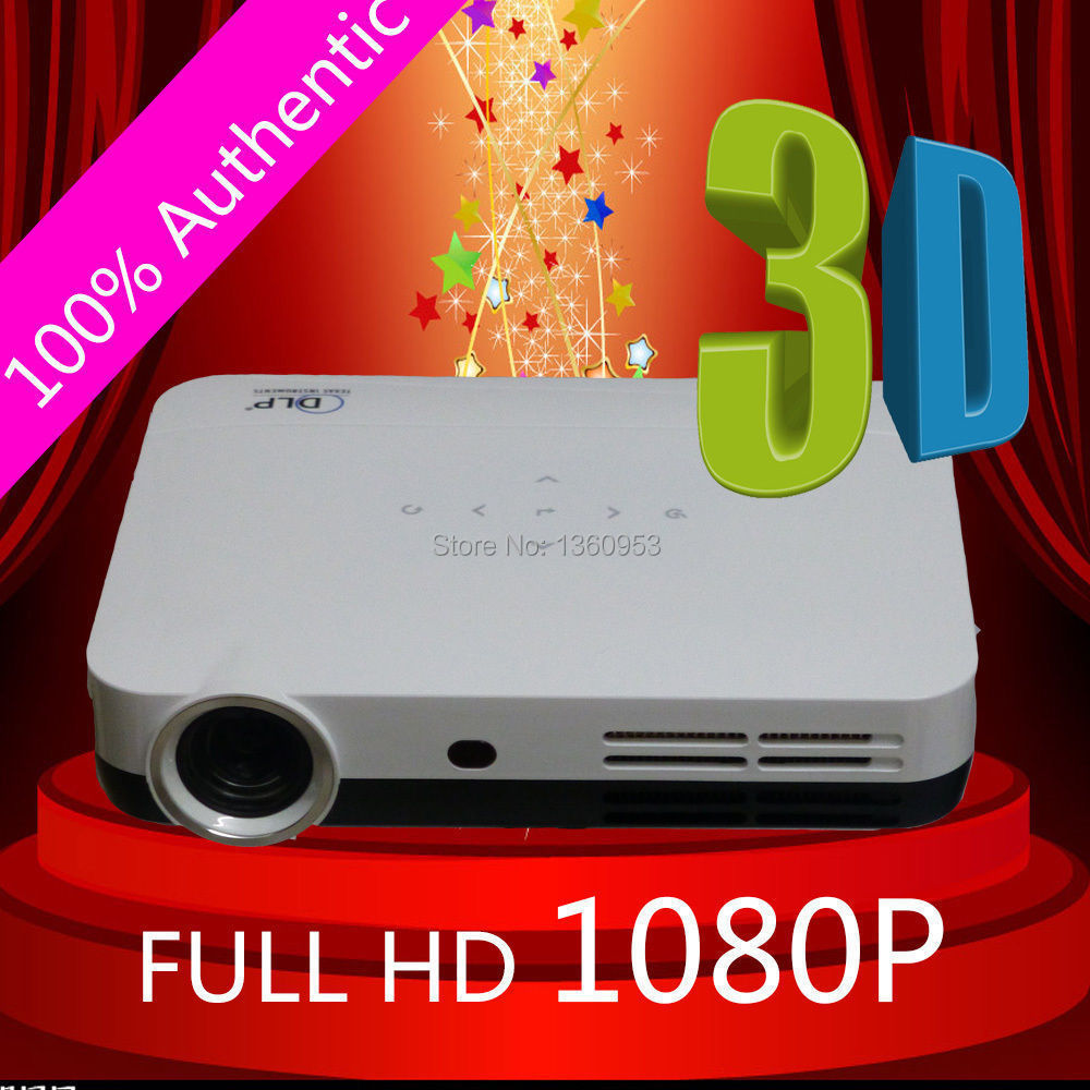 Free Shipping Best Quality STCO 1080P Pocket Mini DLP Full HD 1280*800 Perfect Shutter 3D Projector Beamer(China (Mainland))