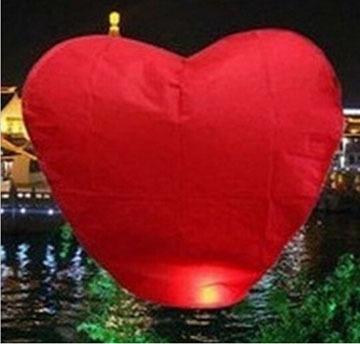 Heart Shap Sky Lanterns Wishing Sky Lantern 8 Colors Flying Wishing Lanterns 500PCS/lot(China (Mainland))