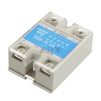 SSR-15VA 15A AC 24-380V Output Covered Adjustable Solid State Module Relay
