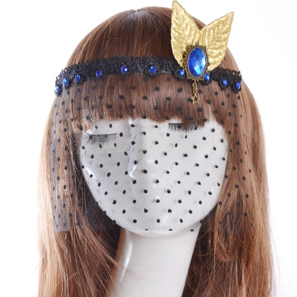 Mystery PRINCESS VEIL Face Lace Face Luminous Mask Masquerade Masque Cutout Fancy Dress Venetian Carnival Halloween Facepiece(China (Mainland))