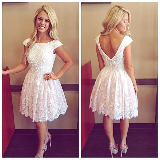 Short Ivory Wedding Dresses Promotion-Shop for Promotional Short ...