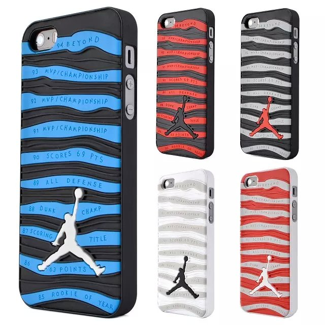 For Iphone 5 5s 3d Jordan Shoe Sole Silicon Case Cover Jumpman Stripe Pattern Protective Back Cases 2016 New Free Shipping(China (Mainland))