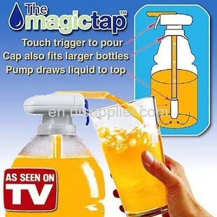 Party Supplies Magic Tap Beer dispenser beverage Juice drink dispenser Automatic Hand-pressure beverage straw On TV AY208-SZ(China (Mainland))