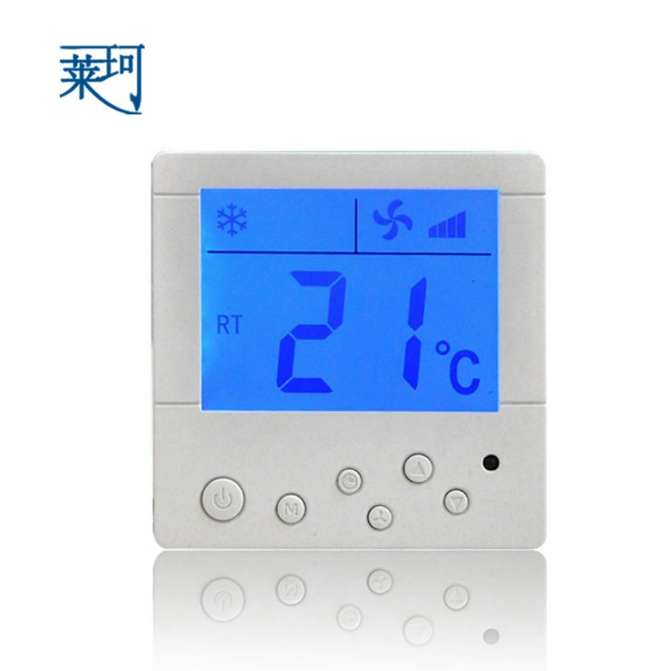 k801dxf Central air-conditioning fan coil LCD thermostat temperature controller three-speed temperature control switch(China (Mainland))