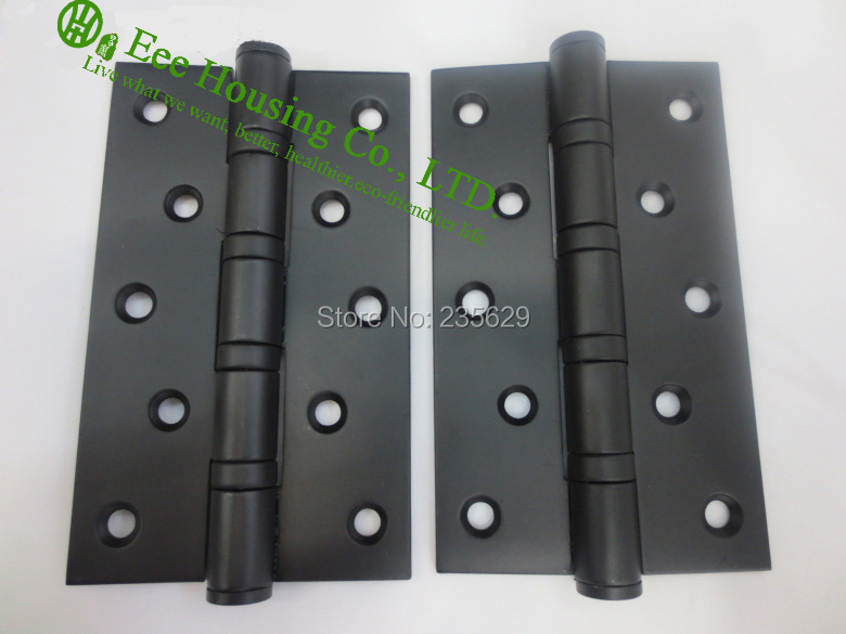 5 inches ball bearing black door hinges, Stainless Steel Hinges for doors, 5 inches black door hinge,Low noise Hinges(China (Mainland))
