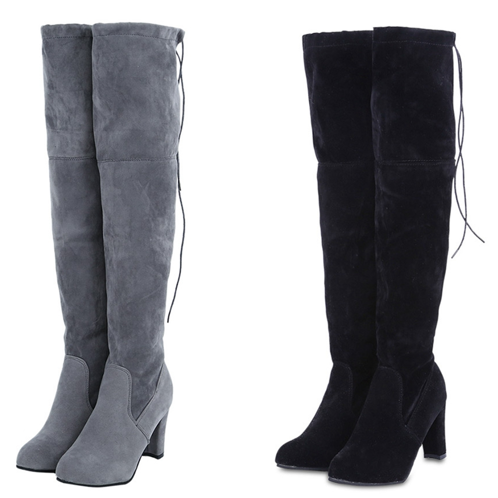 Thigh High Boots No Heels Promotion-Shop for Promotional Thigh ...