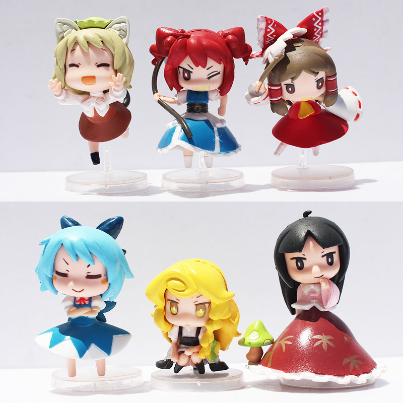 NEW 2015 Touhou Project Flandre Kirisame Marisa Saigyouji Yuyuko Reimu Hakurei Remilia Figure Toys Q Version PVC 6pcs/set-in Action & Toy Figures from Toys & Hobbies on Aliexpress.com | Alibaba Group