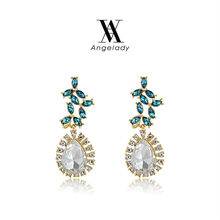 Star Jewelry Fashion Earrings For Women  Stone Crystal Simple Pendant Flower Dangle Earring Water Drop Earrings(China (Mainland))