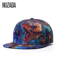 Brands NUZADA 3D Color Printing Pattern Men Women Sports Hat Hats Baseball Cap Fashion trends Hip Hop Snapback Caps Bone(China (Mainland))