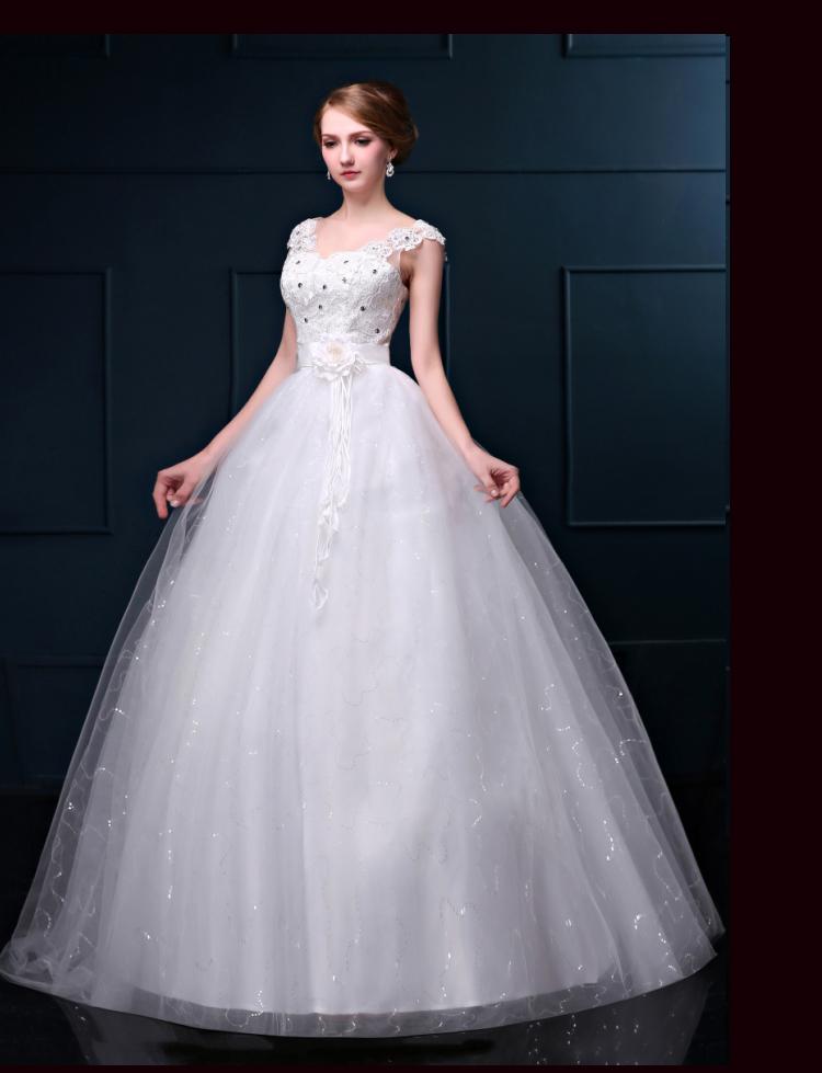 White lace top wedding dresses renda vestidos de noiva for Lace top plus size wedding dress