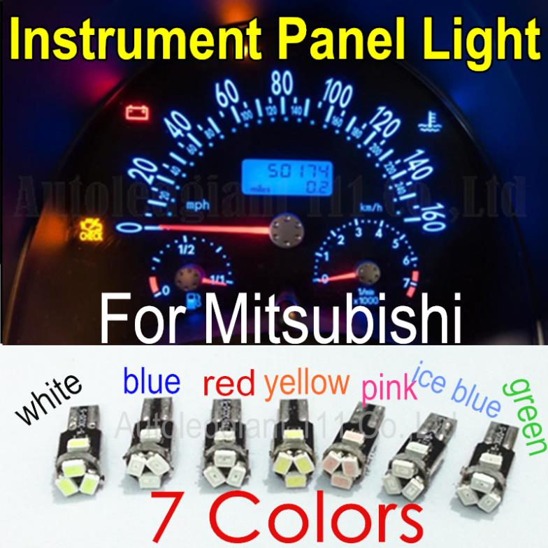 10pieces LED T5 For Mitsubishi Eclipse Galant Lancer Outlander Endeavor Precis Raider Montero Dashboard Instrument Panel Light(China (Mainland))