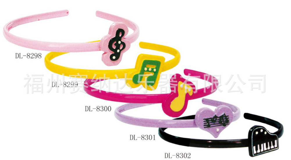 Free shipping children's hair accessories exquisite hair bands music note gift jewelry hairpin wholesale(China (Mainland))