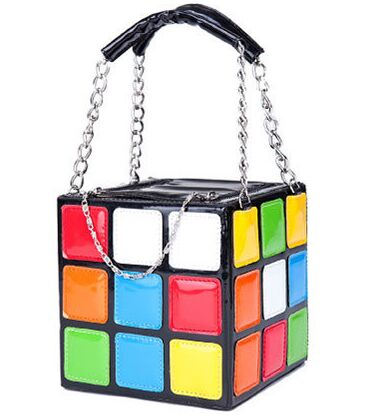 2016 New Personality Women Hot Cute Magic Cube PU Bag Handbag Purse Fashion chain bolsa feminina messenger bag tote bags(China (Mainland))