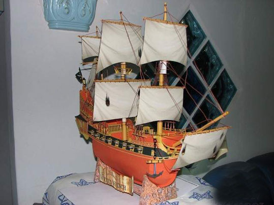 free shipping paper model Black Pearl Pirates of the Caribbean ship model kit 3D paper puzzle toy children gift(China (Mainland))