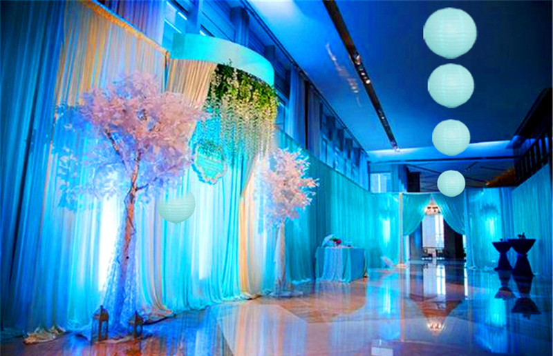 10pcs/lot 6-16 inch Light Blue Chinese paper lantern For Wedding ...