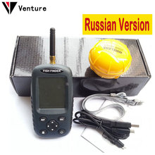 Venture Russian Version FF998 Wireless Fish Finder Sonar Portable Waterpoof Lake Sea Contour Thermometer Sounder Fishfinder(China (Mainland))