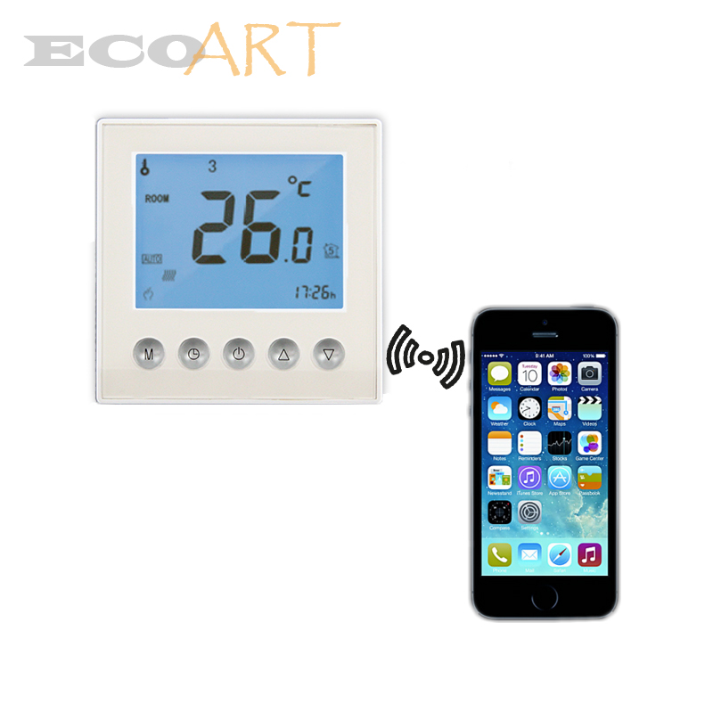 wifi controller heating thermostat 7 days programmable with backlight app remotely control in. Black Bedroom Furniture Sets. Home Design Ideas