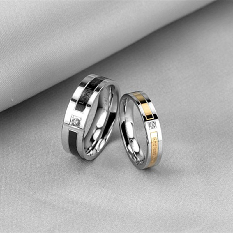 2015 New Wedding Rings for Women Men Titanium Rings Jewelry Drill Lovers Ring Endless Love for Daily Life(China (Mainland))
