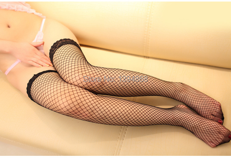 Female Sexy Stockings New 2014 Women Thigh High Sexy Lingerie Sheer Lace Net Fishnet Stockings White