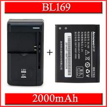 2000mAh BL169 battery for Lenovo A789 P70 P800 S560 Batterie Bateria Batterij Accumulator AKKU+ Universal battery Charger(China (Mainland))